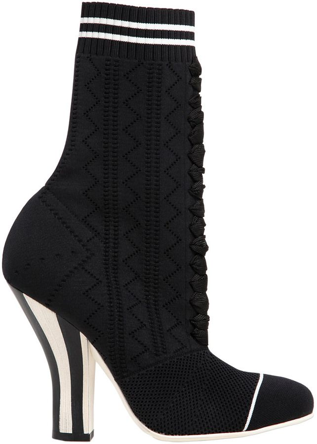 8c549396 Fendi 105mm Stretch Knit Ankle Boots | Boots | Boots, Shoes, Ankle boots