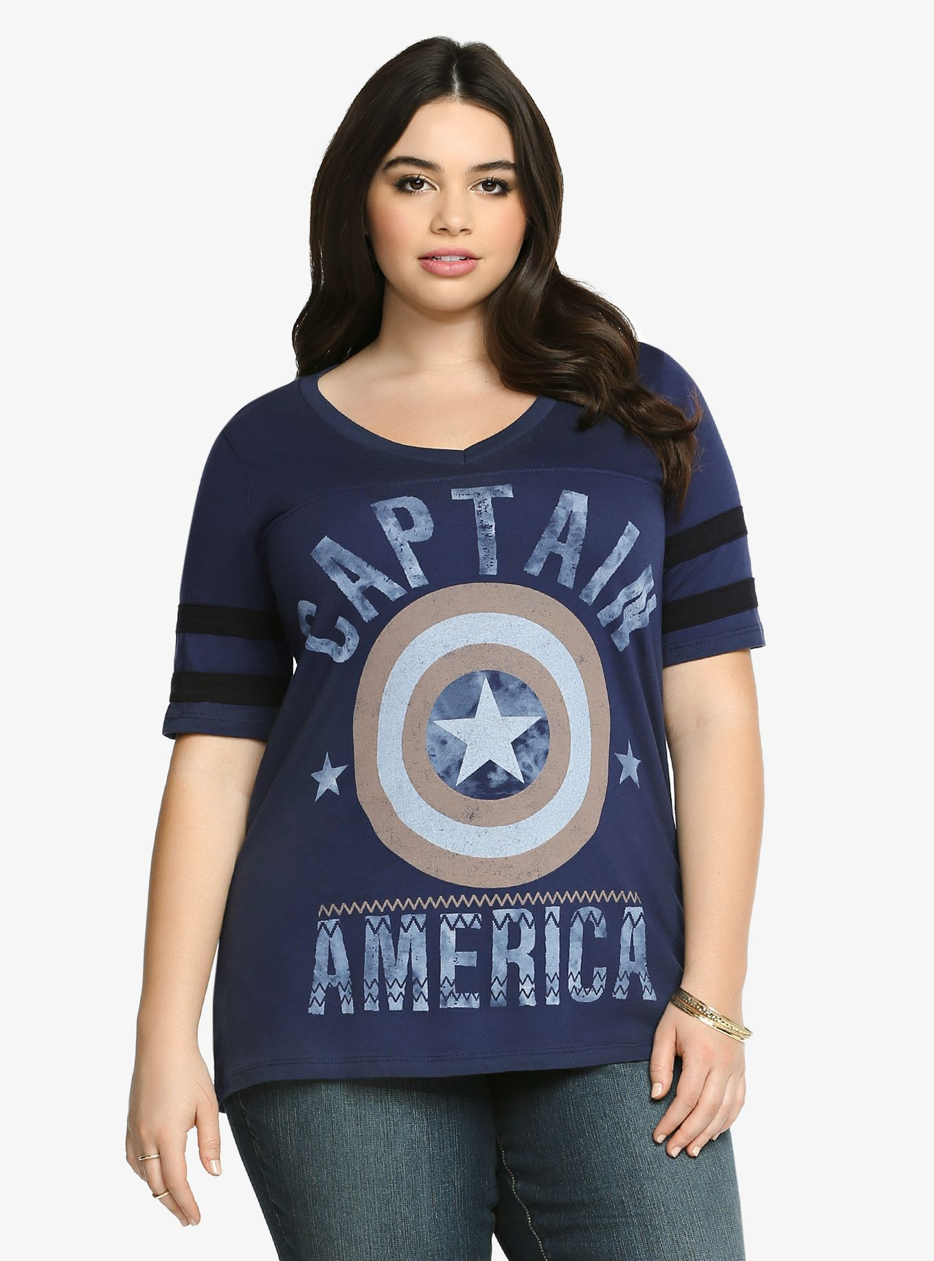 be764898bfba4 Captain America Football Tee