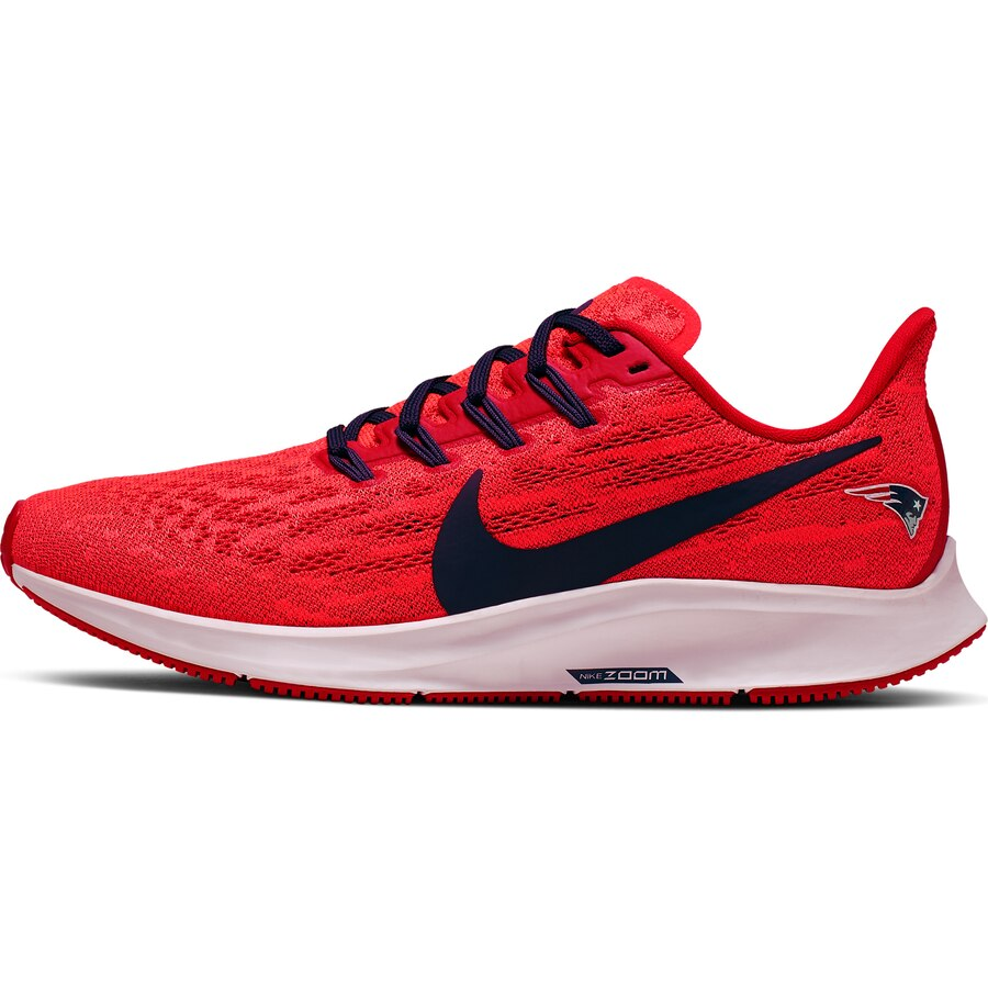 New England Patriots Nike Women S Air Zoom Pegasus 36 Running Shoes Red Navy Patriots Womens Nike Women Womens Sneakers