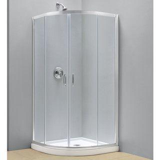 Dreamline Prime 31 3 8 X 31 3 8 Frameless Clear Glass Sliding Shower Enclosure Shower Enclosure Shower Wall Kits Corner Shower