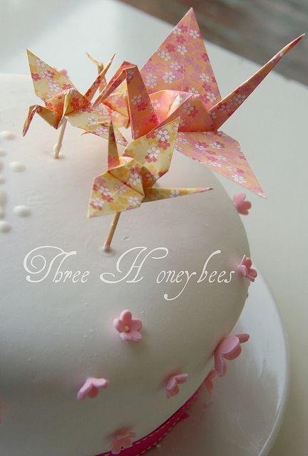 Origami Cake Topper By Three Honeybees Via Flickr