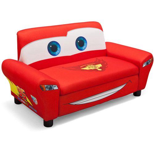 disney cars sofa with storage toddler walmartcom