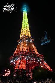 Pub concert Daft Punk :  Tour Eiffel photography