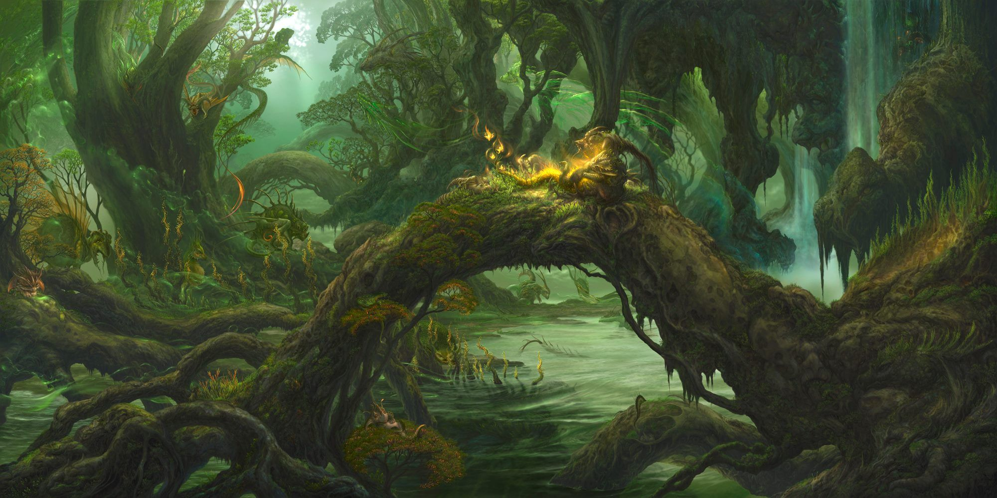 Image result for fantasy forest creatures concept art
