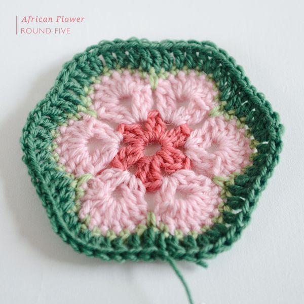 African Flower Crochet Pattern | gehäkelte Blumen, Häkeln und ...