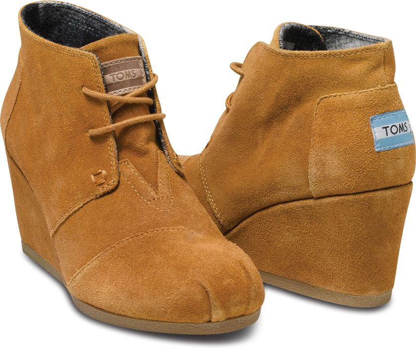 7b24e7a455c TOMS Chestnut Suede Women s Desert Wedges Size 11   《World Sales Shops》