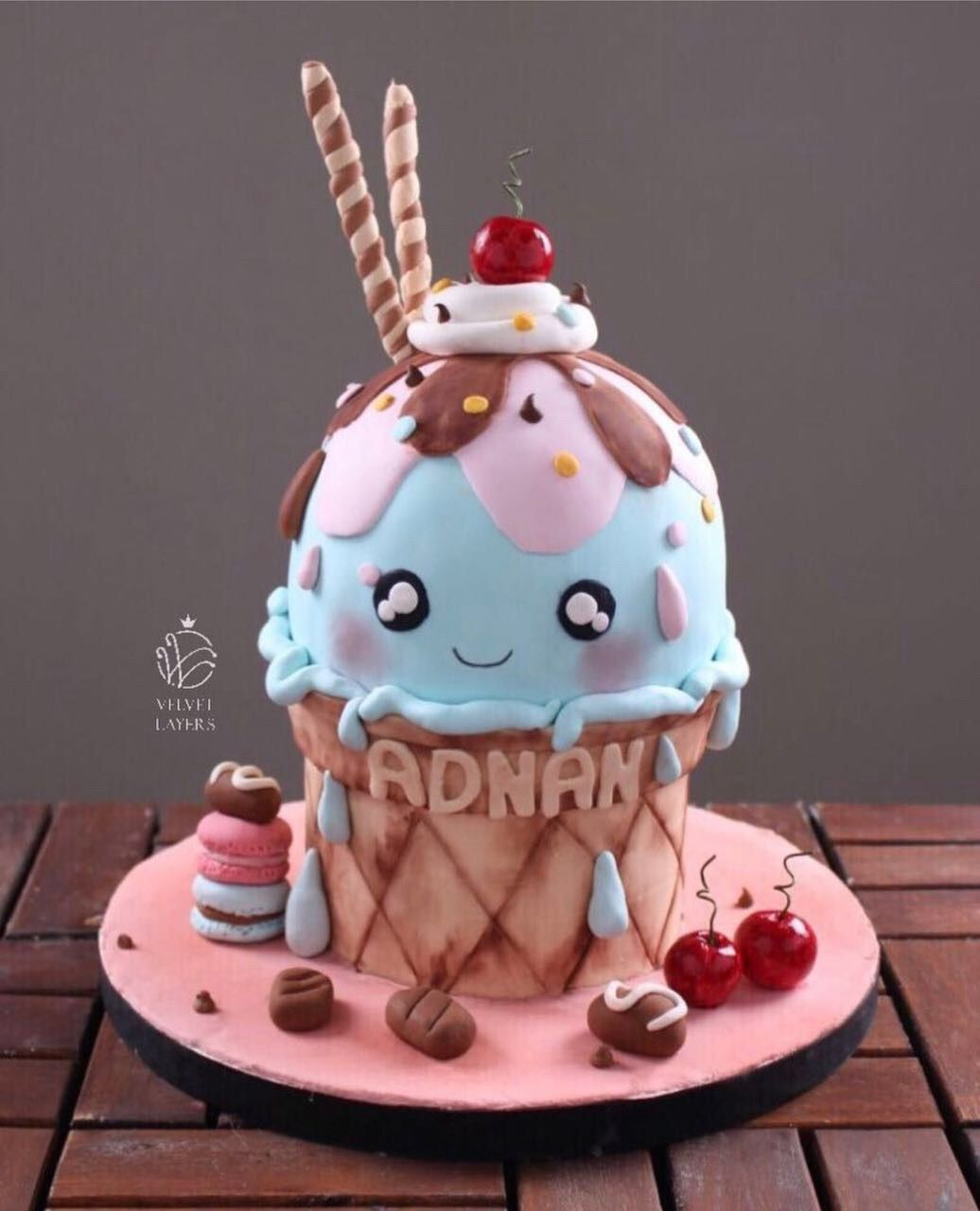 Astonishing Birthday Girl Ice Cream Birthday Party Ice Cream Cone Cake Ice Funny Birthday Cards Online Fluifree Goldxyz