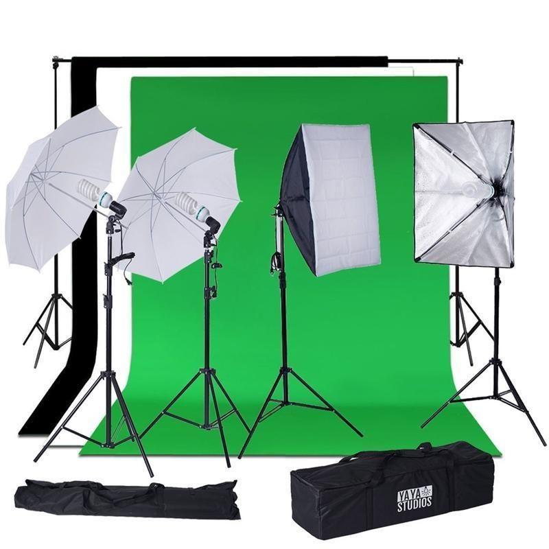 Daylight Umbrella Professional Photo Lighting Kit Softbox With Backdrops In 2020 White Umbrella Continuous Lighting Photo Lighting