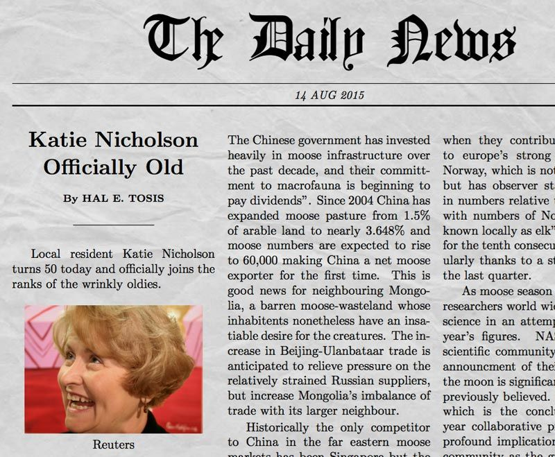 Newspaper Generator Screenshot  MarketingGraphics