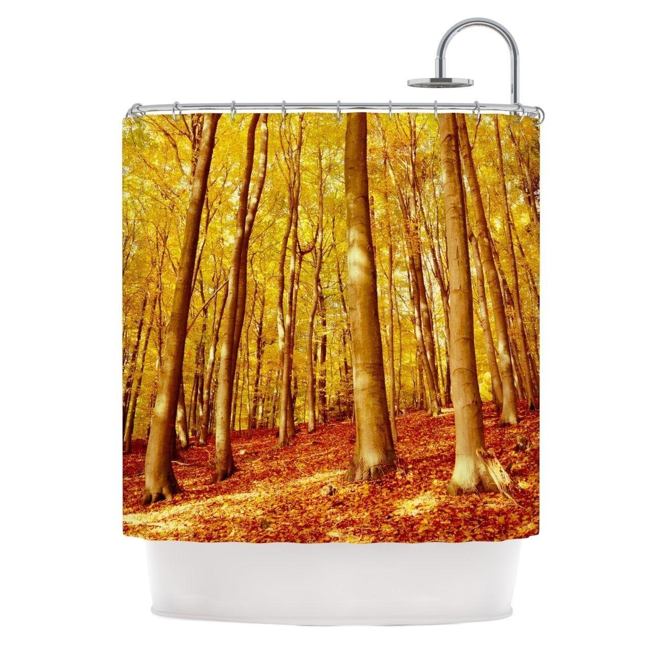 kess inhouse iris lehnhardt forest colors yellow orange shower  - kess inhouse iris lehnhardt forest colors yellow orange shower curtain(x) by kess inhouse