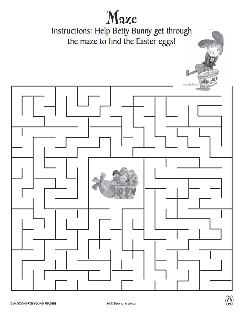 Help Betty Bunny find Easter eggs with these fun printable