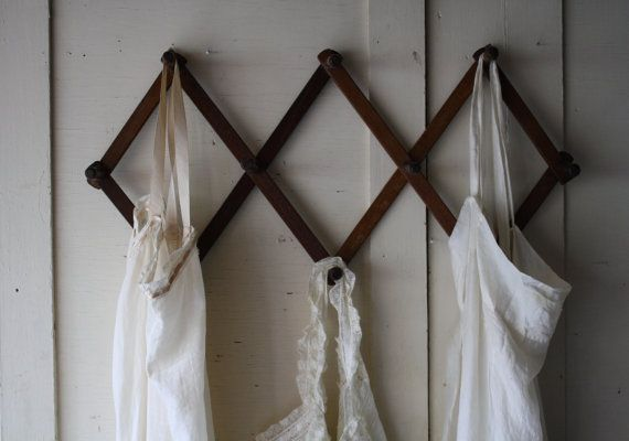Vintage Wooden Peg Rack