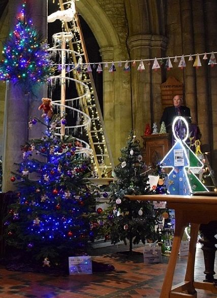 some of the 1396 Christmas Trees in St Mary's Church, Melton ...