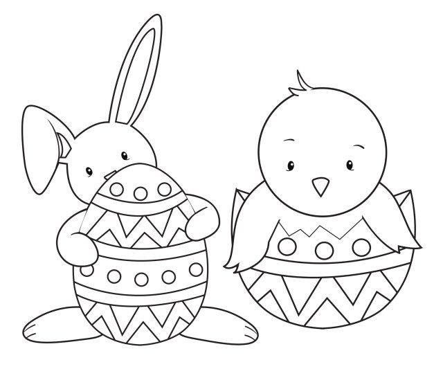 This is a picture of Free Printable Easter Bunny Coloring Pages regarding egg