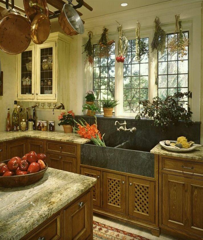 Love This Tudor Style Kitchen Back Splash And Farm Sink