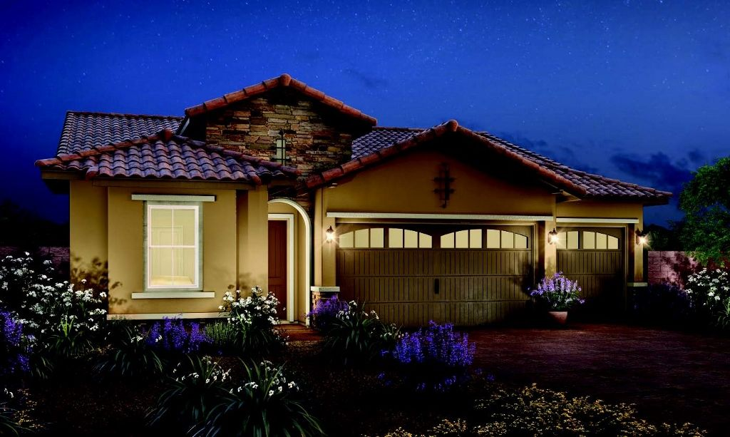The exterior of the Pineridge plan by Toll Brothers in