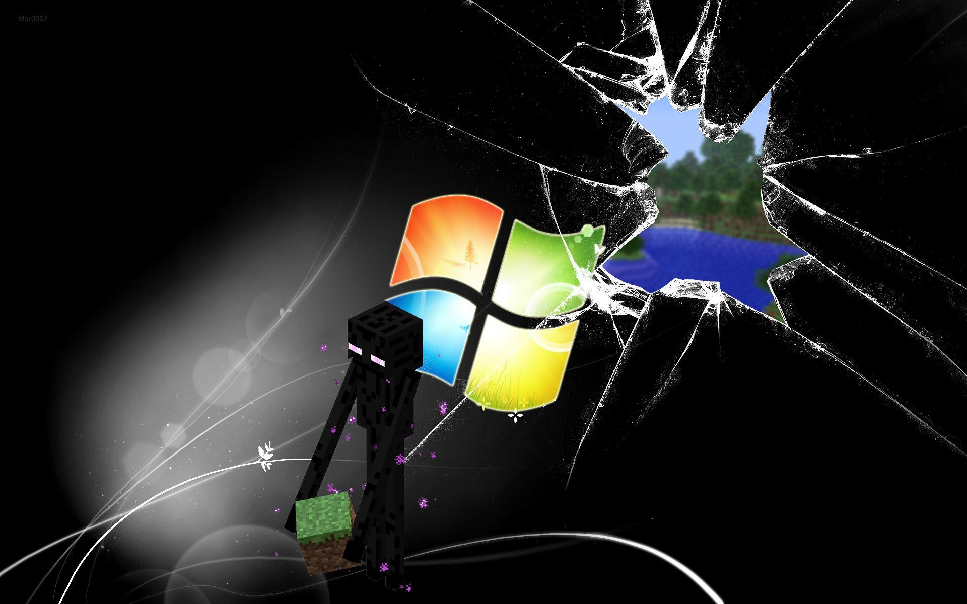 Обои Minecraft, windows, game, стекло, рабочий стол. Windows foto 9