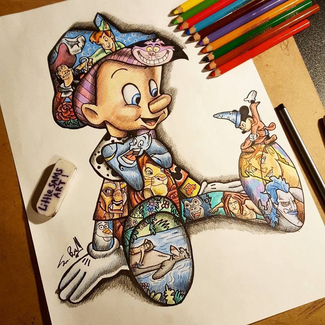 This drawing is to cool disney drawings pinterest for Things tattoo artists love