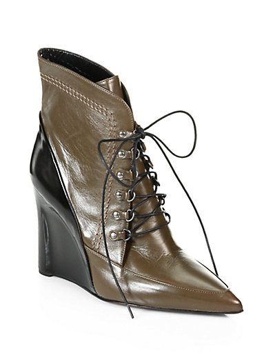 discount best prices free shipping marketable Derek Lam Leather Lace-Up Wedges free shipping nicekicks cheap sale latest outlet amazing price vDPwbRyl
