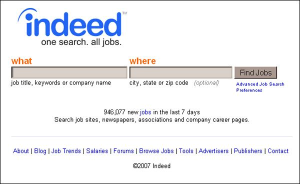 Top 100 Undiscovered Web Sites College and Students - indeed com resume search