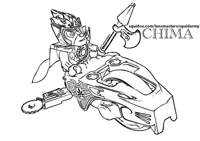 Lego Chima Coloring Pages Splendorz Lego Free Wolf