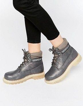 Caterpillar boots, Grey boots