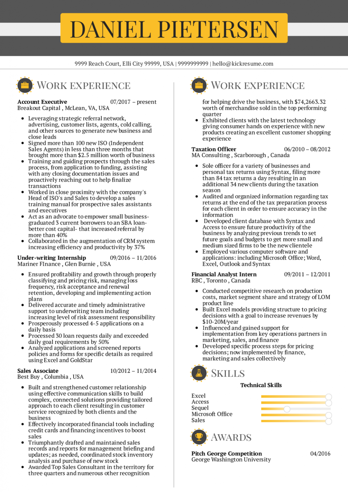 10 Resume Format In Word For Accounts Executive