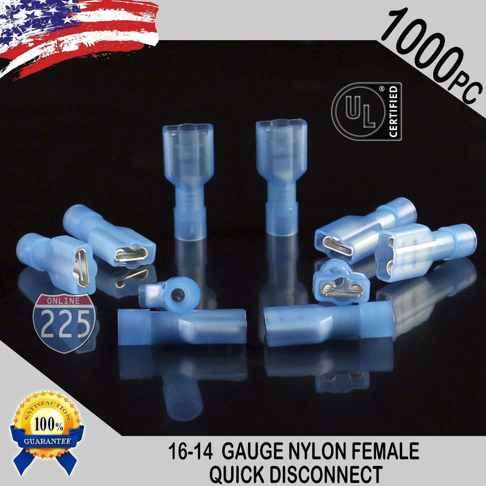 Connectors and Terminals: 16-14 Gauge 1000 Pc Nylon Fully Insulated ...
