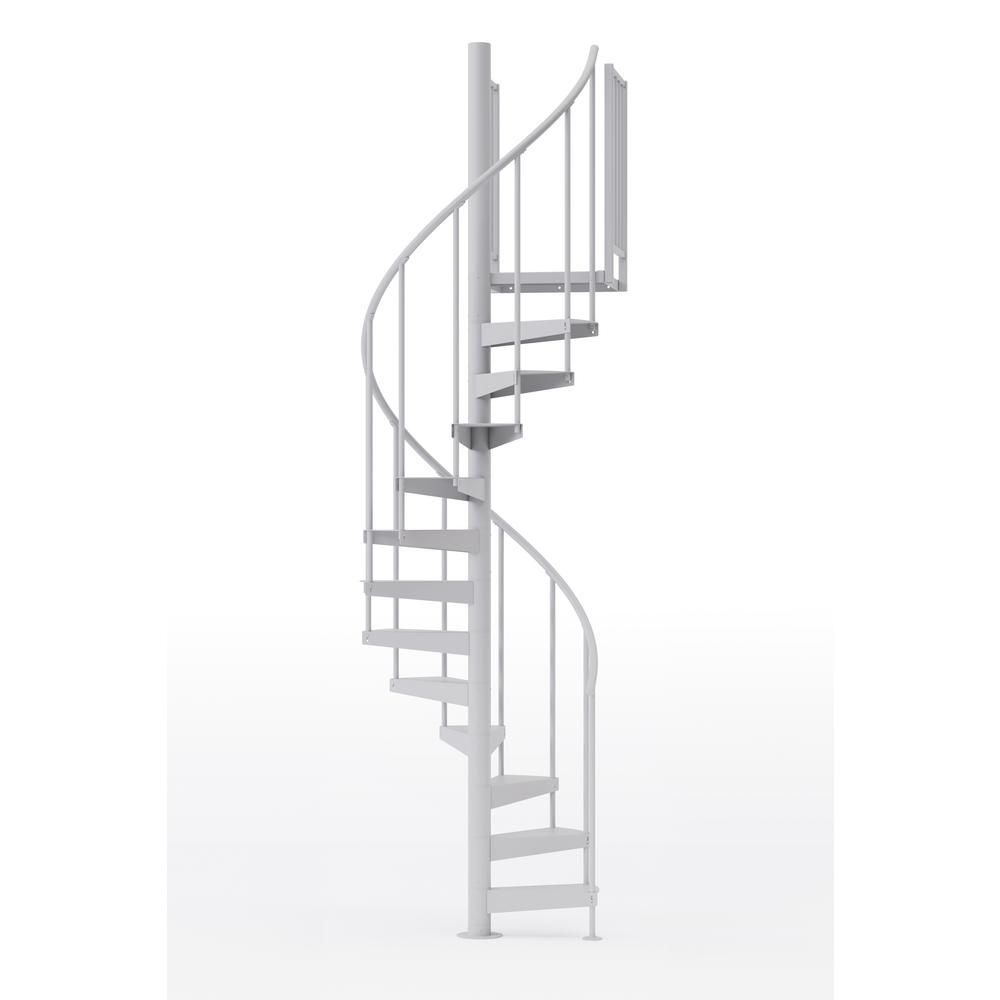 Best Mylen Stairs Condor White 42 In 3 Ft 6 In Wide 12 640 x 480