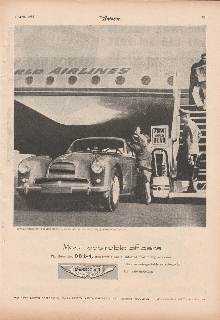 1955 Aston Martin - Most desireable of cars - vintage ad ...