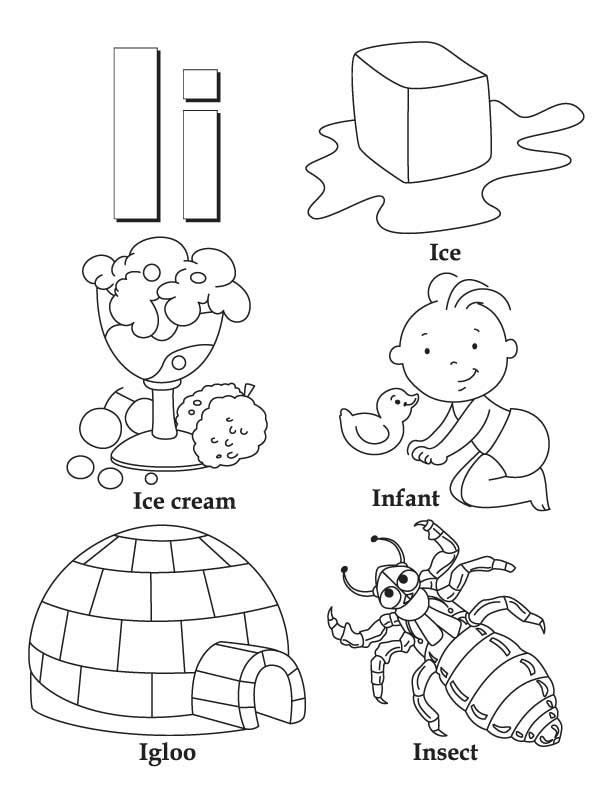 my a to z coloring book letter i coloring page