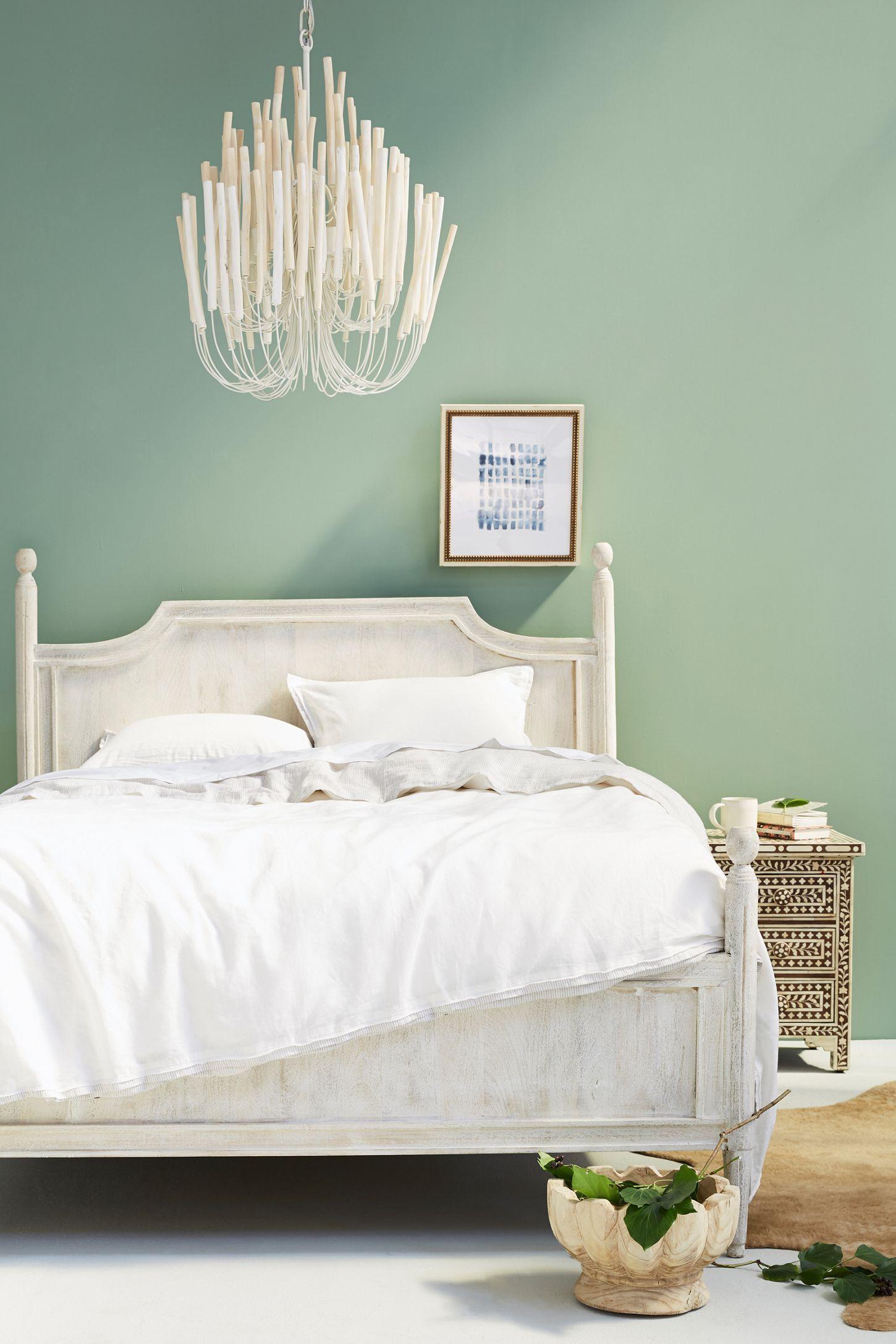 Washed Wood Bed in 2019 Vintage bedroom furniture, White