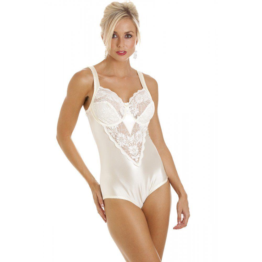 New Womens Ladies Lingerie Underwear Ivory Lace Shapewear ...