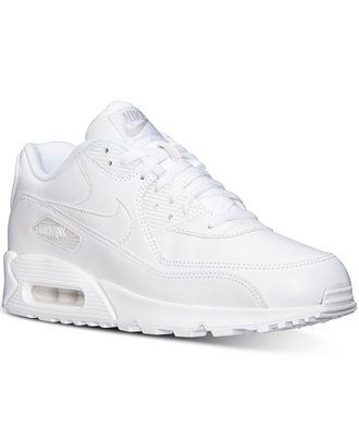 buy online b9b62 84724 Nike Men s Air Max 90 Leather Running Sneakers from Finish Line - Finish  Line Athletic Shoes - Men - Macy s
