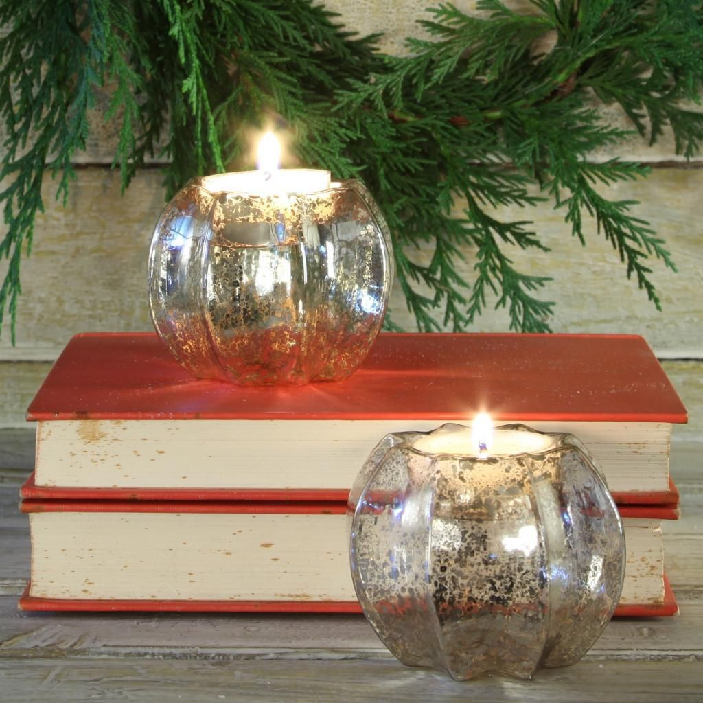 Our Mercury Glass Tealight Holders reflect the glow they hold within.