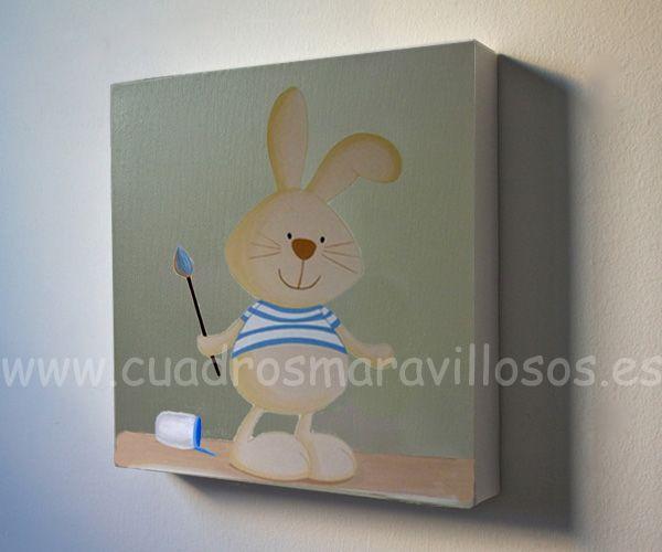 cuadros infantiles sobre lienzo