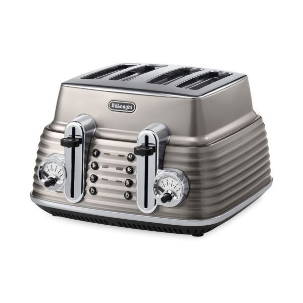 De Longhi Scultura 4 Slice Toaster Champagne Gloss 165 Cad Liked On Polyvore Featuring Home Kitchen Dining Small Liances Delonghi Slot