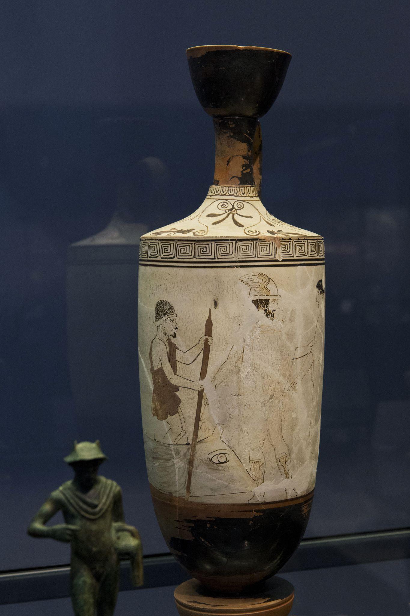 Hermes And Charon Ancient Greek Pottery Greek Pottery Greek Art