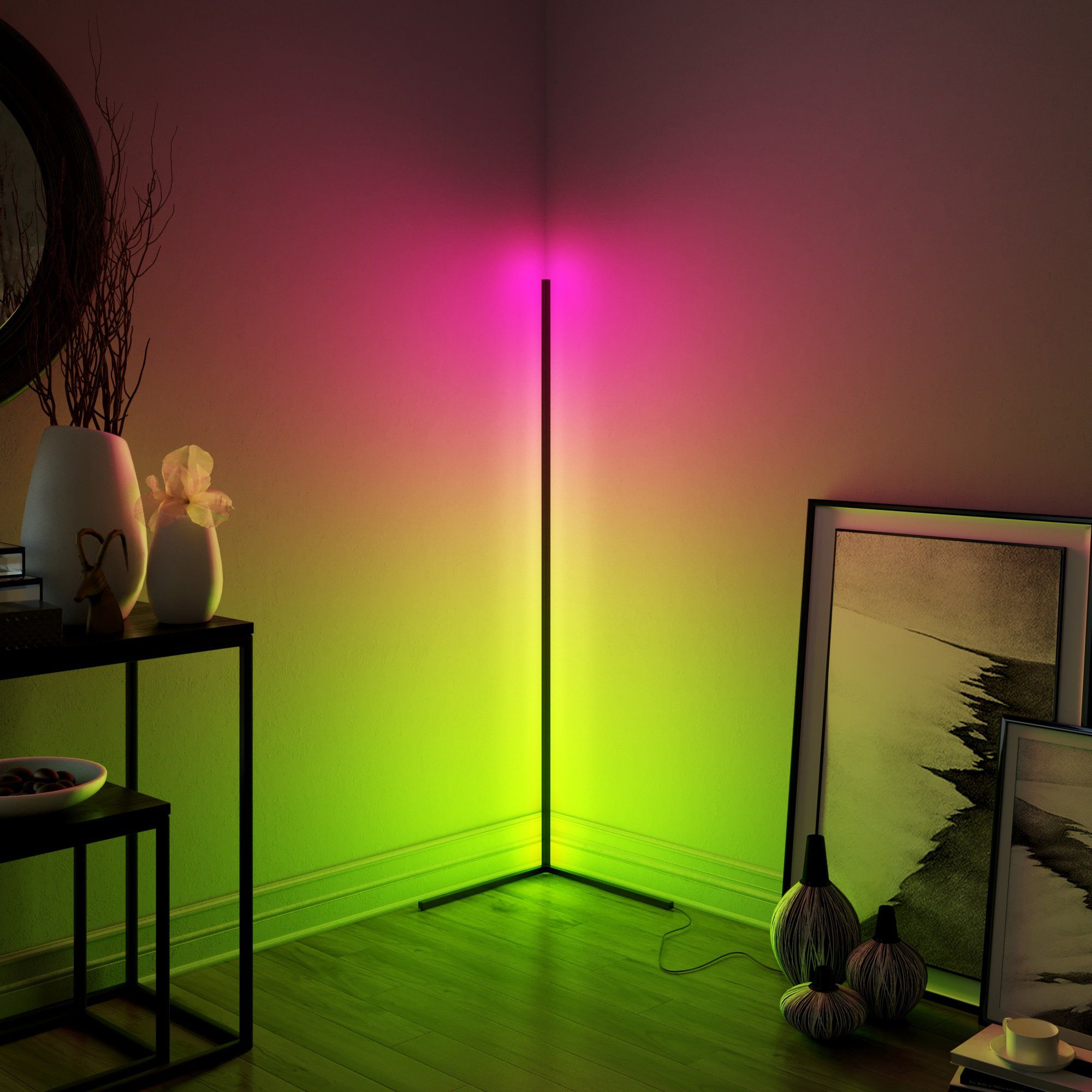 Minimal Lamp Vibrancy Minimalamp In 2020 Corner Floor Lamp Corner Lamp Led Floor Lights