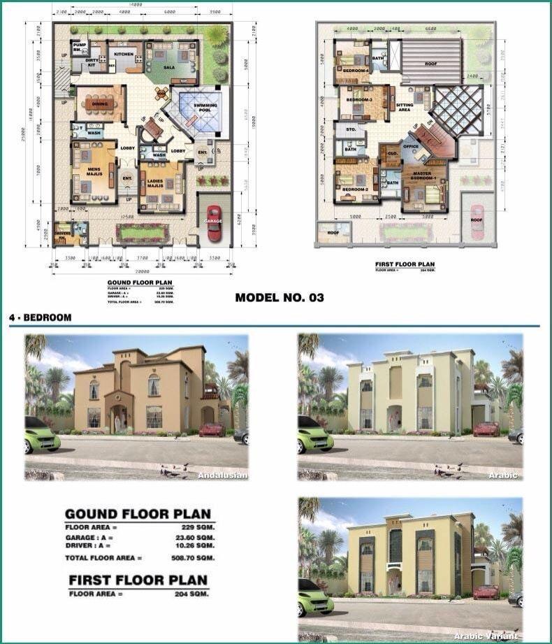 saudi aramco villa plans 3 - architecture    ...
