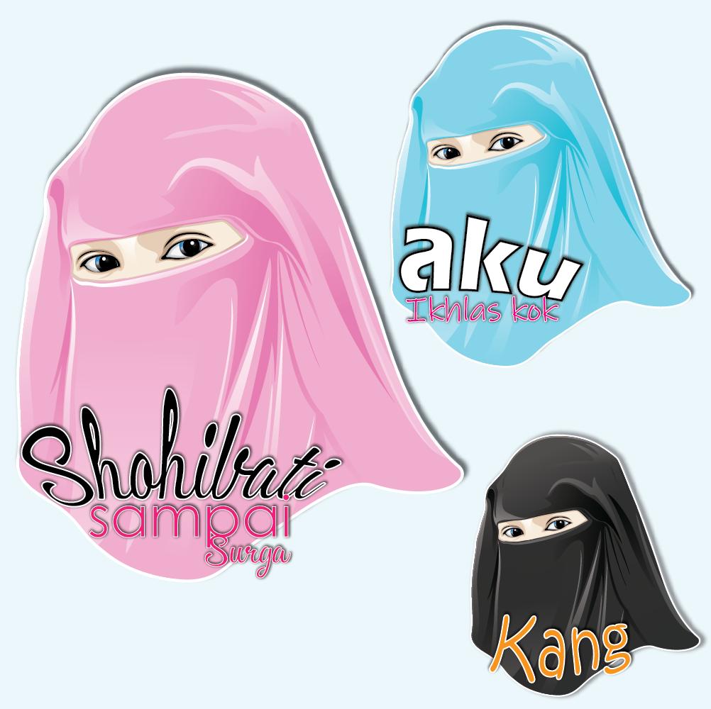 wanita hijab cadar untuk pins simple poin keren mantap broo wanita krudung cadar wanitasoleha hijrah pins vectorindonesia vxvin kartun desain desainer pinterest