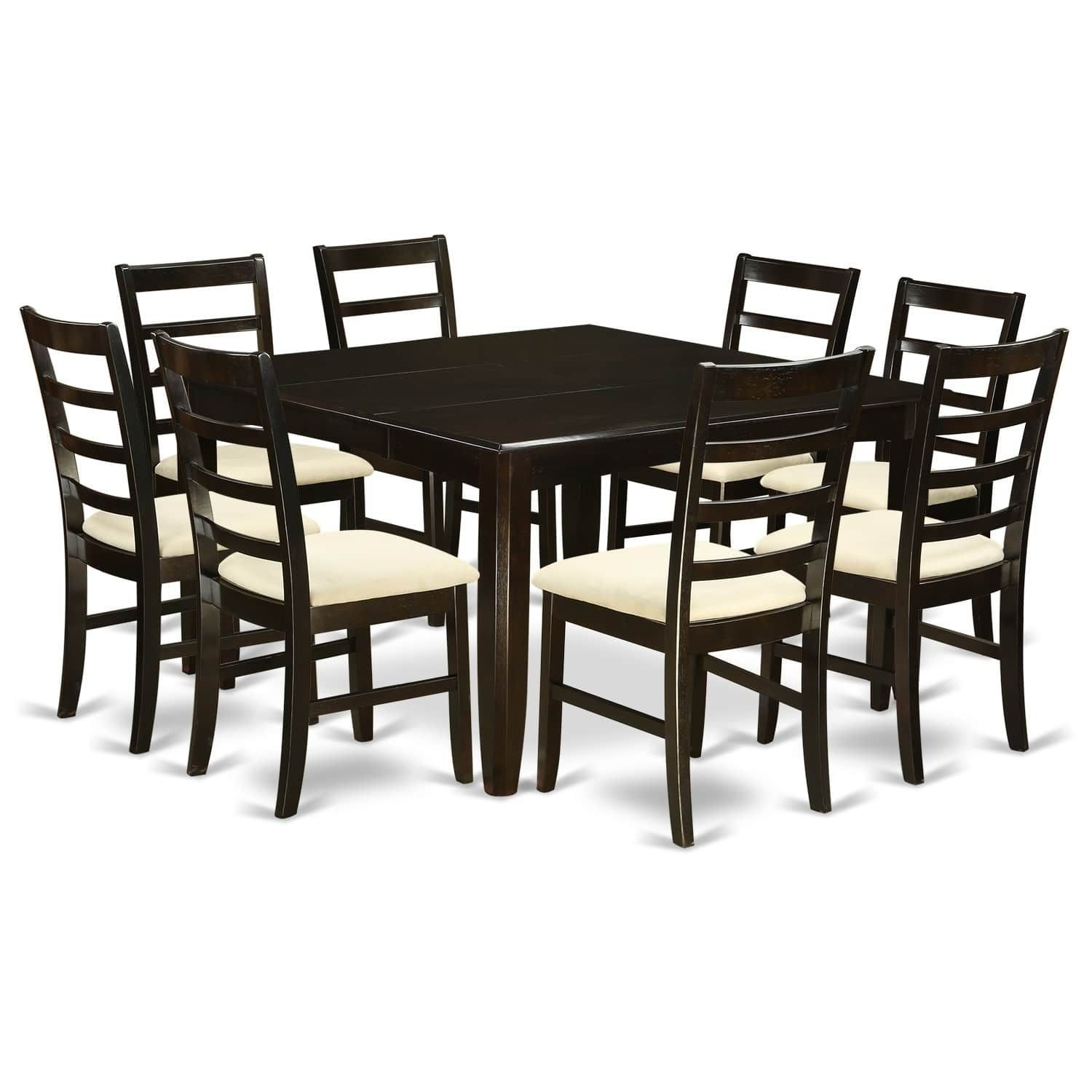 Parf9Cap 9 Pc Dining Room Setsquare 54 Table And 8 Stools Inspiration 8 Piece Dining Room Set Design Ideas
