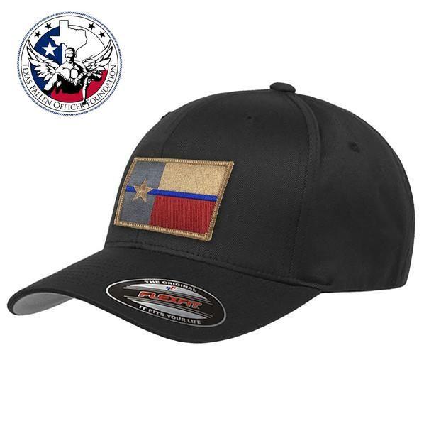 FlexFit Texas Thin Blue Line Flag Hat 9bfdcd4c413