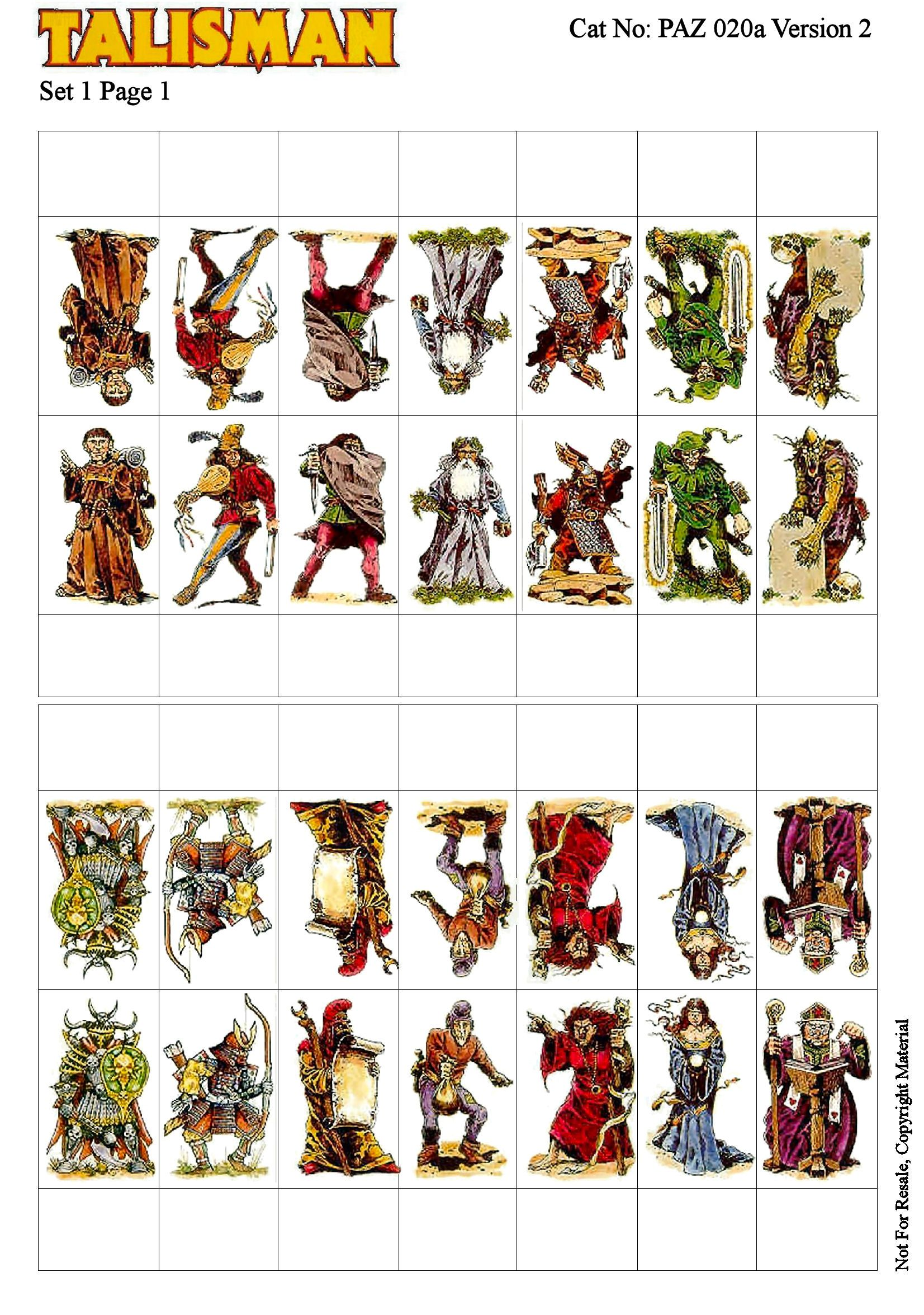 picture relating to Dnd Printable Minis titled Talisman Released Statistics via Pazza - Only Print And Participate in