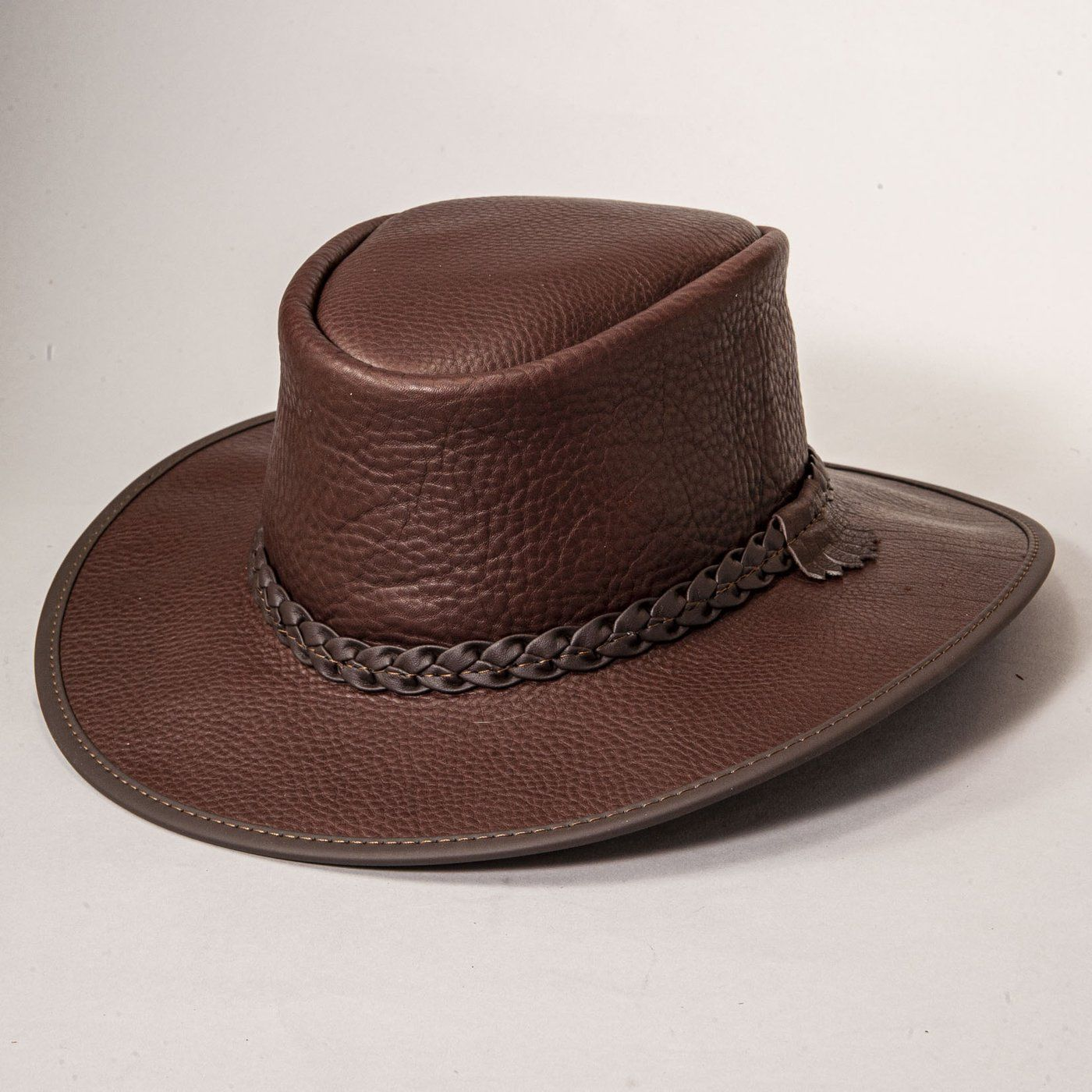 Bison Tennial Leather Packable Hat Leather Hats Buffalo Leather Bison Leather