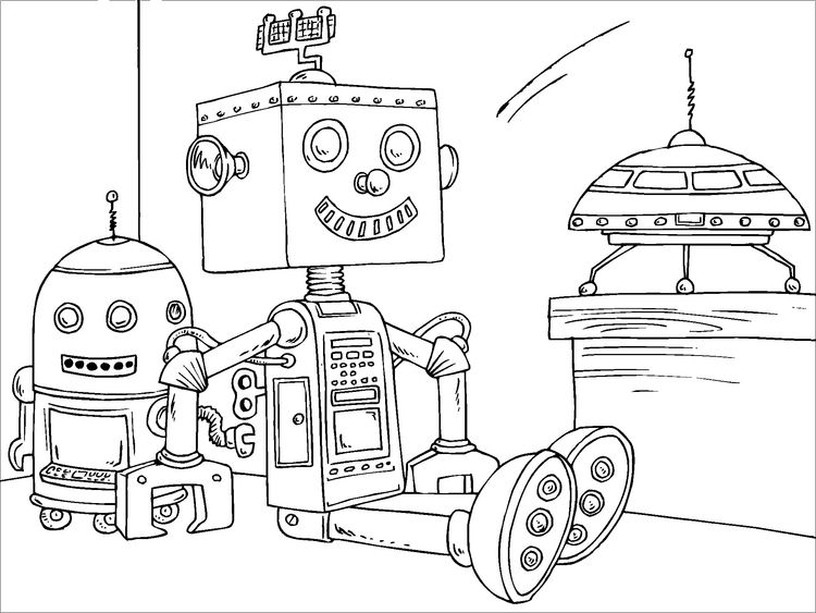 Coloring Page Toy Robot Coloring Pages For Kids Free Coloring