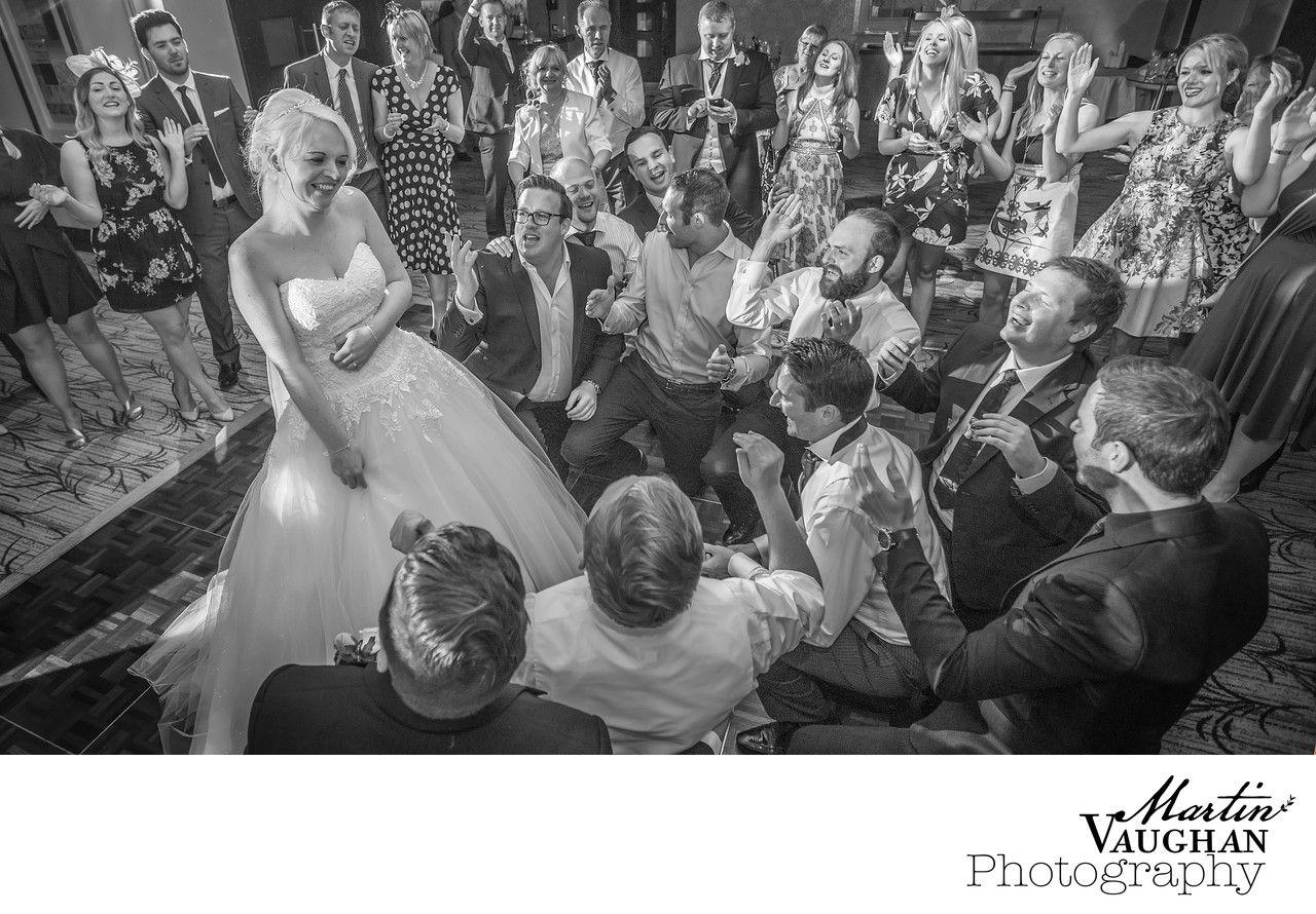 Quay Hotel and spa Deganwy Conwy wedding serenade for the bride