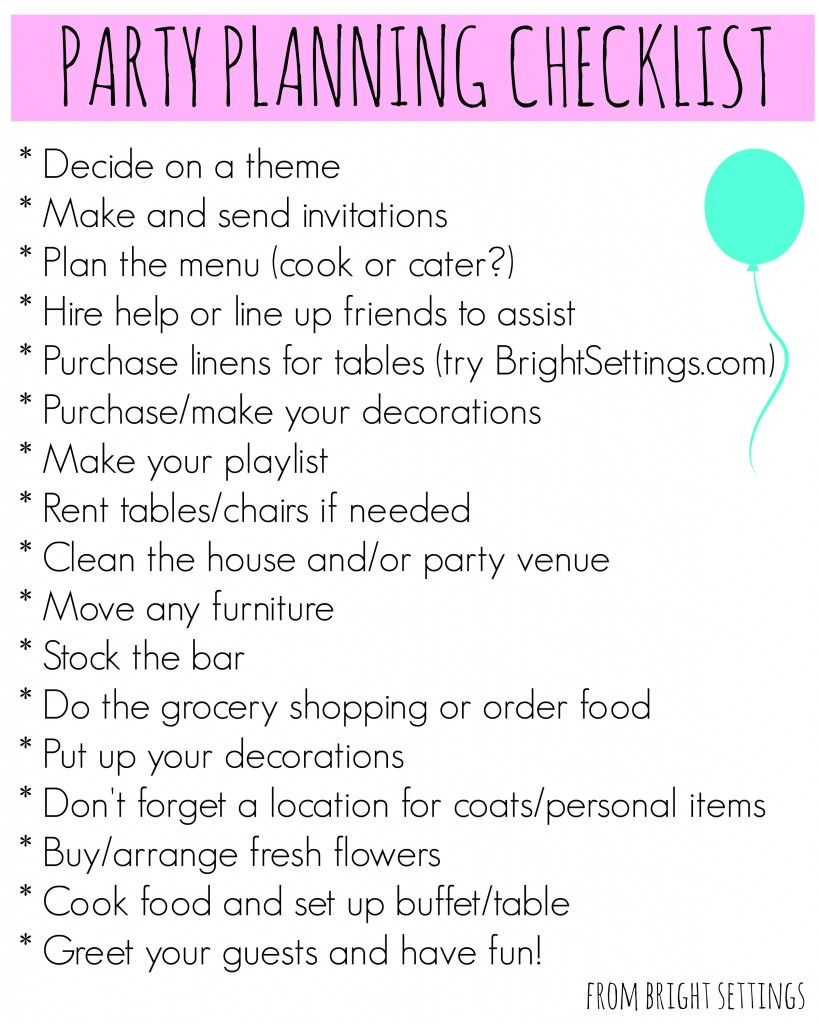 adult birthday party planning