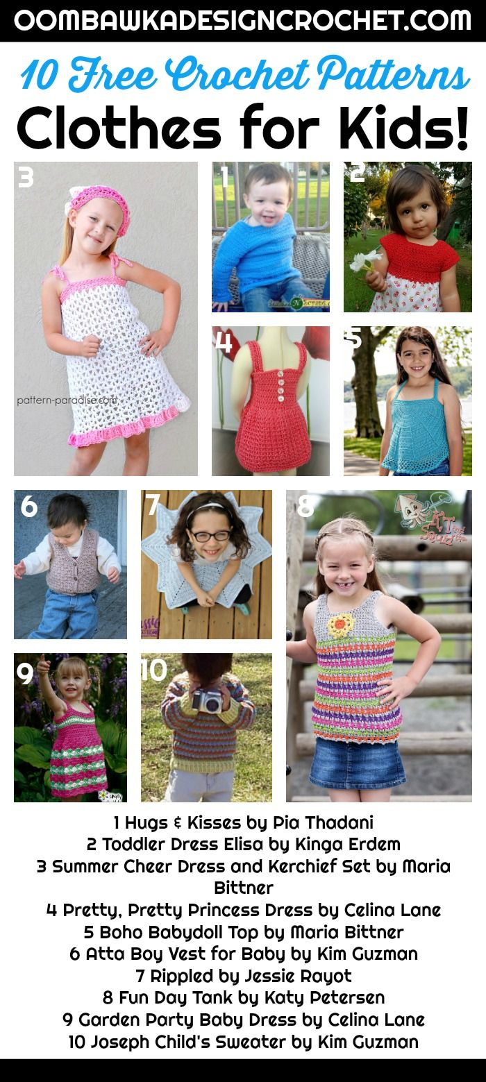 f113941674565 10 Free Crochet Patterns for Clothing for Boys and Girls! Find sweaters