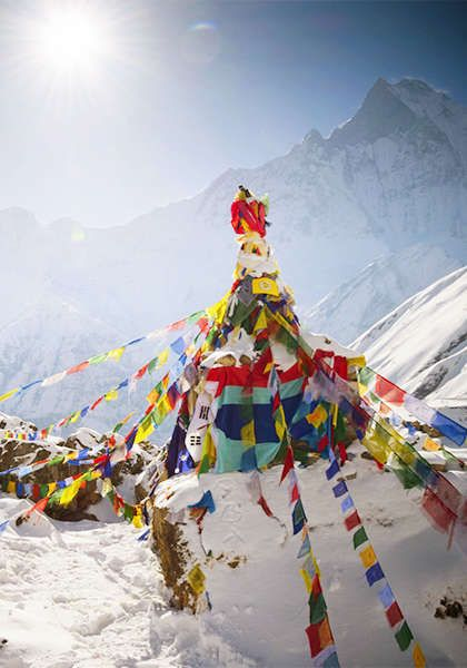 Lace up those hiking boots and get ready for a breath of the most exhilarating air you've ever experienced on this guided trek through the Himalayas of Nepal.